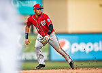 24 February 2019: Washington Nationals top prospect infielder Luis Garcia sees action in the 8th inning of a Spring Training game against the St. Louis Cardinals at Roger Dean Stadium in Jupiter, Florida. The Nationals defeated the Cardinals 12-2 in Grapefruit League play. Mandatory Credit: Ed Wolfstein Photo *** RAW (NEF) Image File Available ***