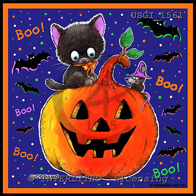 GIORDANO, CUTE ANIMALS, LUSTIGE TIERE, ANIMALITOS DIVERTIDOS, Halloween, paintings+++++,USGI1561,#AC#