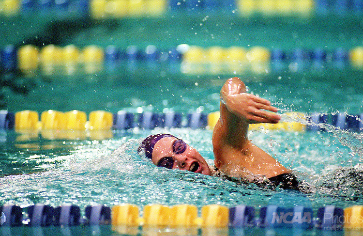 16 MAR 2002:  Diana Betsworth of Truman State University swims in the 1650 freestyle event during the  Division 2 Women's Swimming and Diving National Championship held at the Central Florida YMCA Aquatic Center in Orlando, FL.  Betsworth won the race with a 16:43.51 time.  Jamie Schwaberow/NCAA Photos