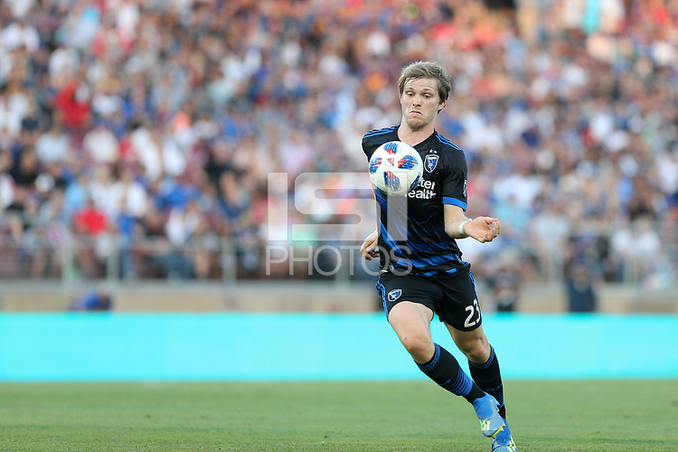 Stanford, CA - Saturday June 30, 2018: Florian Jungwirth prior to a Major League Soccer (MLS) match between the San Jose Earthquakes and the LA Galaxy at Stanford Stadium.