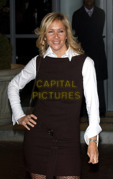 "TANIA BRYER .""North Country"" gala screening at Soho House, London, UK..February 1st, 2006.Ref: BEL.half length hand on hip black dress.www.capitalpictures.com.sales@capitalpictures.com.© Capital Pictures."