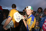 Clare Hurling fan Sarah McMahon pictured at  the Open Training Night on Tuesday. Pic. Brian Arthur/ Press 22.