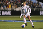 05 December 2008: North Carolina's Rachel Givan. The University of North Carolina Tar Heels defeated the University of California Los Angeles Bruins 1-0 at WakeMed Soccer Park in Cary, NC in an NCAA Division I Women's College Cup semifinal game.