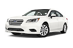 Stock pictures of low aggressive front three quarter view of a 2015 Subaru Legacy 2.5i Premium 4 Door Sedan Low Aggressive