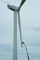 Building a wind farm near Harrogate. Turbine, power, electricity.