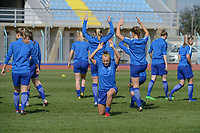 20190306 - PARALIMNI , CYPRUS : illustration picture during a women's soccer game between Finland and South Africa , on Wednesday 6 March 2019 at the Tassos Markou Stadium in Paralimni , Cyprus.  This last game for both teams which decides for places 9 and 10 of the Cyprus Womens Cup 2019 , a prestigious women soccer tournament as a preparation on the Uefa Women's Euro 2021 qualification duels.PHOTO SPORTPIX.BE | STIJN AUDOOREN