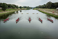 Today is raceday. Second round of heats saturday.<br />  IBCPC Dragon Boat Festival i Firenze er en dragebådsfestival for brystkraftramte kvinder. Copenhagen Dragonboat Team deltager med godt 20 kvinder i alderen fra 25 til 62.<br /> <br /> Foto: Jens Panduro<br /> <br /> The IBCPC Dragon Boat Festival is held every four years under the auspices of the International Breast Cancer Paddler's Commission. The Festival is an international non-competitive participatory event targeting Breast Cancer Survivors teams who engage in Dragon Boat activities as post-operative rehabilitation. Born from the idea of a Canadian sports medicine physician, Doctor Don McKenzie about twenty years ago, Dragon Boat paddling has become a rehabilitation therapy for tens of thousands of men and women worldwide, who have undergone surgery.<br /> For the first time since its institution in 2005, the IBCPC FESTIVAL will be held in Europe – in Italy!! The Florence 2018 Festival will involve 129 teams from 17 countries , and for the very first time ALL the continents are represented.<br /> Organised and promoted by FIRENZE IN ROSA Onlus as the official Organising Committee, the Florence Festival will be a sporting event but above all a social occasion in which Florence will welcome from 4,000 to 5,000 people from all over the world. The participants are mainly women between the ages of 20 and 80, who will meet to take part in the exciting Dragon Boat races, paddling together on the Arno. They will also be accompanied by their friends and family, their faithful and enthusiastic supporters.