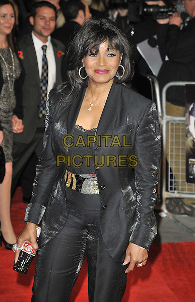 "Rebbie Jackson .The ""Michael Jackson : The Life Of An Icon"" UK premiere, Empire cinema, Leicester Square, London, England..2nd November 2011.half length black trousers blazer jacket silver belt .CAP/CAN.©Can Nguyen/Capital Pictures."