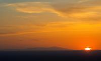 Sunset. Pikes Peak silhouette. April 2013