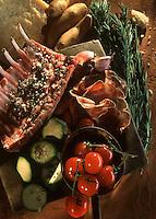 Cuisine/Gastronomie Generale: Carré d'Agneau en croute de parmesan au romarin les ingrédients de la recette