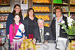 Francis Brennan held a book signing for his new book Guide to Life in Eason's bookshop Killarney on Saturday l-r: Tanya O'Shea, Saoirse Coffey and Nuala Coffey and Kerry Breen
