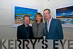 EXHIBIT: Former Tanaiste Dick Spring and artist Michael Flaherty with ??? pictured at the opening of Michael's art exhibition in the Greenlane Gallery in Dingle at the weekend.