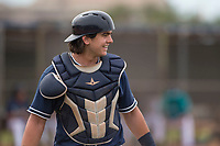 San Diego Padres catcher Jonny Homza (7) during a Minor League Spring Training game against the Seattle Mariners at Peoria Sports Complex on March 24, 2018 in Peoria, Arizona. (Zachary Lucy/Four Seam Images)