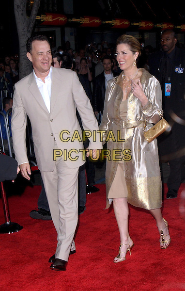 TOM HANKS & WIFE RITA WILSON.Los Angeles Premiere of The LadyKillers held at The El Capitan Theatre in Hollywood, California .12 March 2004.*UK Sales Only*.full length, full-length.www.capitalpictures.com.sales@capitalpictures.com.©Capital Pictures.