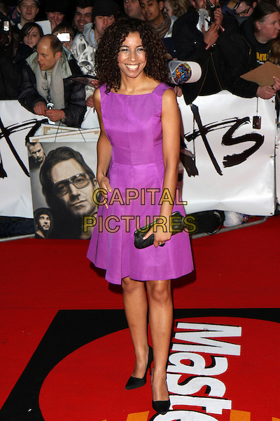 MARGHERITA TAYLOR.Arrivals - 2009 Brit Awards, Earls Court, London, England, .February 18th 2009.brits full length sleeveless purple dress shift black shoes clutch bag .CAP/MAR.© Martin Harris/Capital Pictures.