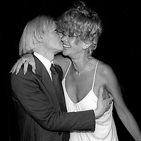 Andy Warhol Monique Van Vooren at Studio 54 1978<br /> Photo By Adam Scull/PHOTOlink.net