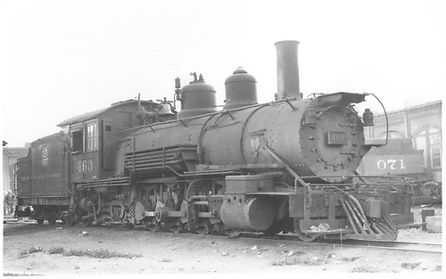 3/4 engineer's-side view of D&amp;RGW #460 in Salida yard waiting for repairs.<br /> D&amp;RGW  Salida, CO  Taken by Perry, Otto C. - 5/1937