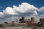 Downtown skyline and Union Station, Denver, Colorado, USA .  John offers private photo tours in Denver, Boulder and throughout Colorado. Year-round Colorado photo tours.