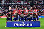 Players of Atletico de Madrid line up and pose for the photo during the La Liga 2018-19 match between Atletico de Madrid and RCD Espanyol at Wanda Metropolitano on December 22 2018 in Madrid, Spain. Photo by Diego Souto / Power Sport Images