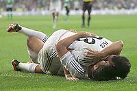 Real Madrid's Isco (t) and Alvaro Morata celebrate goal during La Liga match.August 18,2013. (ALTERPHOTOS/Acero) <br /> Football Calcio 2013/2014<br /> La Liga Spagna<br /> Foto Alterphotos / Insidefoto <br /> ITALY ONLY