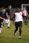 24 March 2004: Fourteen year old Freddy Adu (right) and Garrison Rudisill (25) during the second half. DC United of Major League Soccer defeated the Wilmington Hammerheads of the Pro Select League 1-0 at the Legion Sports Complex in Wilmington, NC in a Carolina Challenge Cup match...