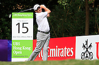 Peter Lawrie (IRL) on the 15th tee during Round 2 of the UBS Hong Kong Open 2012, Hong Kong Golf Club, Fanling, Hong Kong. 16/11/12...(Photo Jenny Matthews/www.golffile.ie)