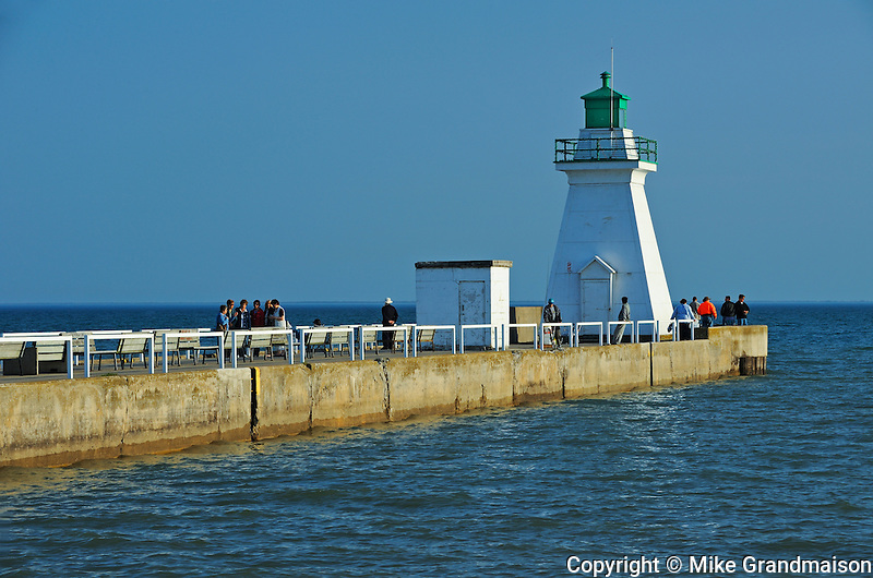 lighthouse on Lake Erie<br /> Port Dover<br /> Ontario<br /> Canada