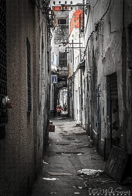 An alleyway in the the Médina in Tunis. The Médina has been a UNESCO World Heritage Site since 1979.