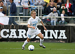 3 December 2006: North Carolina's Heather O'Reilly gets in behind the goalkeeper before scoring the game's first goal in the 18th minute. The University of North Carolina Tarheels played the University of Notre Dame Fighting Irish at SAS Stadium in Cary, North Carolina in the NCAA Division I Women's College Cup championship game.