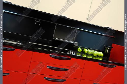 Stylish kitchen interior design in red colors by Ecoitaly interiors Interior Design Show Toronto Ontario Canada 2008