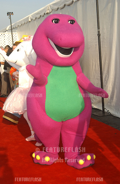 BARNEY at the 10th Anniversary Dream Hallowe'en Gala at Santa Monica Airport, CA. The event raised money for Children Addected by AIDS Foundation..October 25, 2003