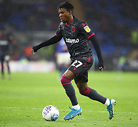 31st January 2020; Cardiff City Stadium, Cardiff, Glamorgan, Wales; English Championship Football, Cardiff City versus Reading; Omar Richards of Reading moves forward with the ball