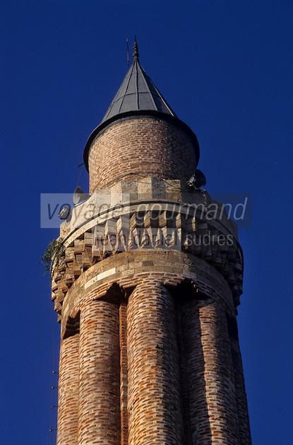 Europe/Turquie/Antalya : Minaret de la petite mosquée