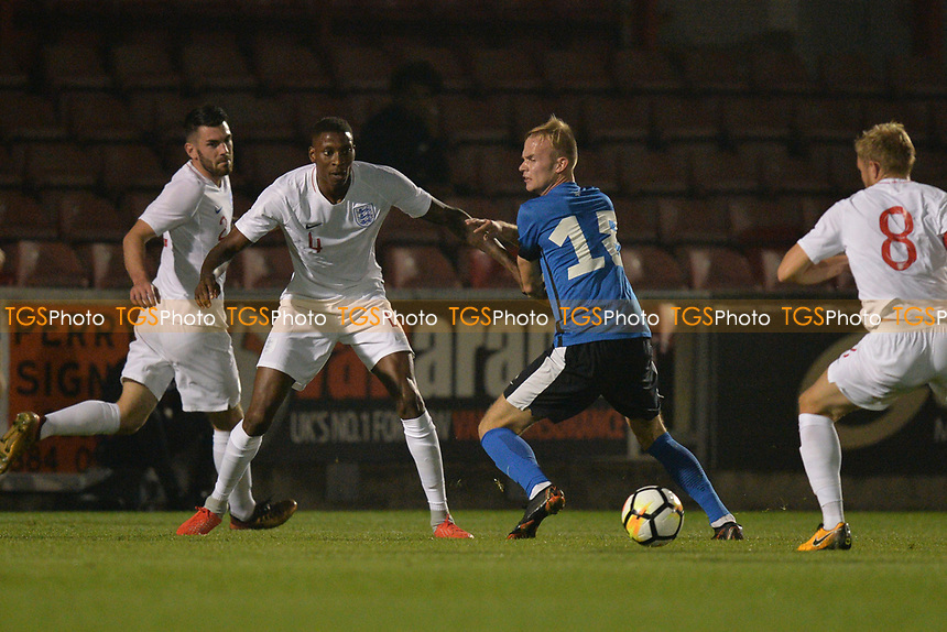 Marvin Ekpiteta Of England C and Leyton Orient FC during England C vs Estonia Under-23, International Friendly Match Football at The Breyer Group Stadium on 10th October 2018