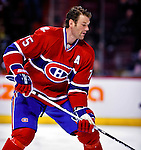 22 March 2010: Montreal Canadiens' defenseman Hal Gill warms up prior to a game against the Ottawa Senators at the Bell Centre in Montreal, Quebec, Canada. The Senators shut out the Canadiens 2-0 in their last meeting of the regular season. Mandatory Credit: Ed Wolfstein Photo