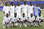 15 July 2007: Nigeria starting eleven. Chile's Under-20 Men's National Team defeated Nigeria's Under-20 Men's National Team 4-0 after extra time in a  quarterfinal match at Olympic Stadium in Montreal, Quebec, Canada during the FIFA U-20 World Cup Canada 2007 tournament.