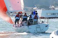 27 November 2007: Alumni sailors sail against University of California Berkeley during the Big Sail at the St. Francis Yacht Club in San Francisco, CA.