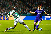 5th December 2017; Glasgow, Scotland;  Moussa Dembele forward of Celtic FC and Adrien Trebel midfielder of RSC Anderlecht  during the Champions League Group B match between Celtic FC and Rsc Anderlecht