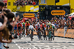 Mike Teunissen (NED) Team Jumbo-Visma wins Stage 1 ahead of Peter Sagan (SVK) Bora-Hansgrohe and Claeb Ewan (AUS) Lotto-Soudal, of the 106th Tour de France running 194.5km from Brusells to Brussels, 6 July 2019. Photo by Thomas van Bracht / PelotonPhotos.com | All photos usage must carry mandatory copyright credit (Peloton Photos | Thomas van Bracht)