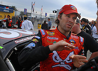 Feb 11, 2007; Daytona, FL, USA; Nascar Nextel Cup driver Stanton Barrett (30) during qualifying for the Daytona 500 at Daytona International Speedway. Mandatory Credit: Mark J. Rebilas