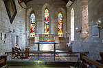 Interior of church of Saint Mary the Virgin, Holy Island, Lindisfarne, Northumberland, England, UK