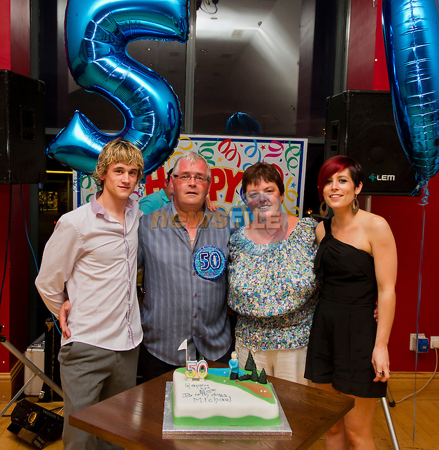 Ian Reilly, Mick Reilly, Emma Reilly and Paula Reide at Mick's 50th Birthday in the Thatch..Picture: Shane Maguire / www.newsfile.ie.