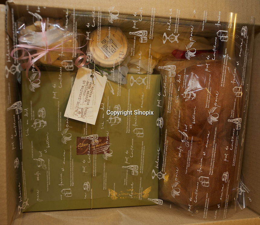 Some products of Japanese baker, Mizuki Taira, 36, in his home bakery called Gateau d'Ange, Kamakura, Japan 09 Feb 11. The the waiting list  for his bread is now eight years long.  Mizuki Taira, turned to baking after a nasty bicycle accident, as part of his rehabilitation.