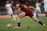 Calcio, Serie A: Roma, stadio Olimpico, 26 agosto, 2017.<br /> AS Roma's Kostas Manolas in action during the Italian Serie A football match between Roma and Inter at Rome's Olympic stadium, AUGUST 26, 2017.<br /> UPDATE IMAGES PRESS/Isabella Bonotto