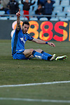 Getafe´s Alvaro during 2014-15 La Liga match at Alfonso Perez Coliseum stadium in Getafe, Spain. February 08, 2015. (ALTERPHOTOS/Victor Blanco)
