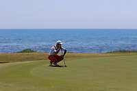Eunshin Park (KOR) on the 7th green during Round 3 of the Rocco Forte Sicilian Open 2018 played at Verdura Resort, Agrigento, Sicily, Italy on Saturday 12th May 2018.<br /> Picture:  Thos Caffrey / www.golffile.ie<br /> <br /> All photo usage must carry mandatory copyright credit (&copy; Golffile | Thos Caffrey)