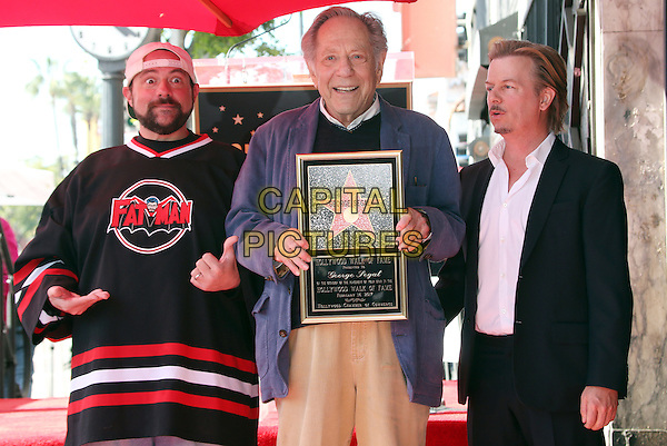 Hollywood, CA - February 14: Kevin Smith, George Segal, David Spade, At George Segal Hollywood Walk Of Fame Ceremony, At The Hollywood Walk Of Fame Ceremony In California on February 14, 2017. <br /> CAP/MPI/FS<br /> &copy;FS/MPI/Capital Pictures