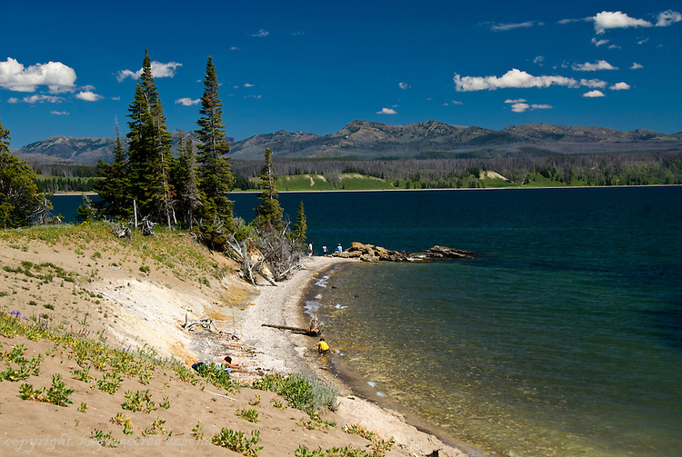 Stormy Point beach, Lake Yellowstone