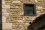 "VMI Vincentian Heritage Tour: Stone and brick architecture found in the small village of Pérouges  - Tuesday, June 28, 2016, site of the classic film ""Monsieur Vincent"". (DePaul University/Jamie Moncrief)"