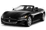 Front three quarter view of a 2014 Maserati GranCabrio Sport Convertible